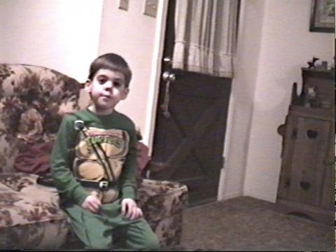 Me at age 4. My local department store was out of Donatello pajamas