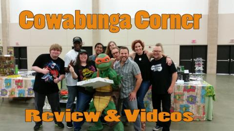Leatherhead, Partners in Kryme, Michele, Fugitoid, Nick, Phoenix, Leif, Kenn, Judith and Robbie at Cowabunga Corner Booth for Fandom Fest 2015.
