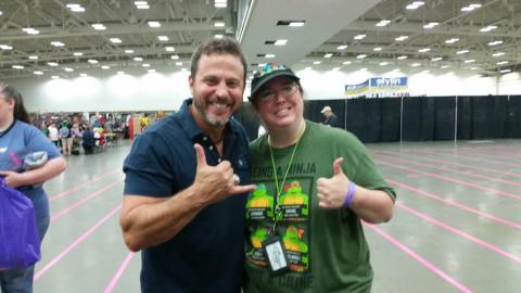 Kenn Scott and Michele in the Autograph area of Fandom Fest 2015